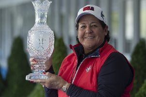 American golfing great Nancy Lopez is one of Juli Inkster's trusted lieutenants in Team USA. Picture: Rolex/Chris Turvey