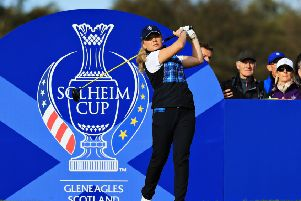 Bronte Law tees off at the seventh hole at Gleneagles. Picture: Getty.