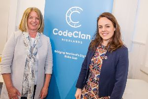 From left: Sara Dodd of CodeClan and digital economy minister Kate Forbes. Picture: Paul Campbell.