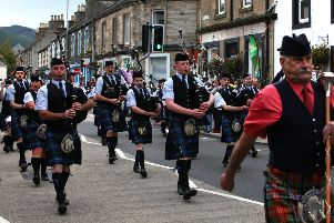 Innerleithen Pipe Band Championships.