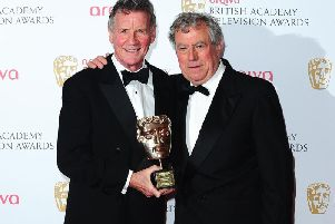Michael Palin with Terry Jones in 2013. Sir Michael believes his friend and colleague no longer recognises him. Picture: Ian West / PA Wire