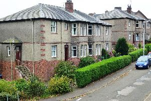 Logie in Dundee.  One of the first post-1919 schemes used 4 in a block housing also known as flatted blocks or cottage flats.  PIC: Historic Environment Scotland.