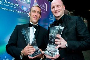 Sharing the PFA Player of the Year award with John Hartson of Celtic in April 2005