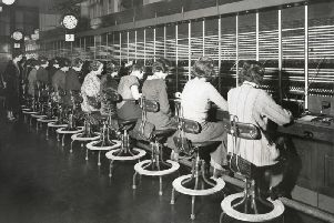 "Women who worked at manual telephone exchanges became known as ""hello girls."""
