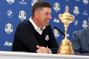 European Ryder Cup captain Padraig Harrington has been talking up the chance of Bob MacIntyre. Picture: Kate McShane/Getty Images