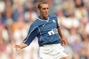 Fernando Ricksen of Rangers in action in 2000 (Picture: Gary M Prior/Allsport)