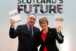 Alex Salmond and Nicola Sturgeon at the launch of the White Paper on independence in 2013. Picture: PA WIRE