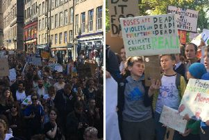Thousands marched down the Royal Mile on Friday.