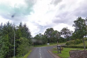 The 75-year-old motorcyclist died after colliding with a tree when he left the B6357 near Bonchester Bridge in Hawick. Picture: Google Maps