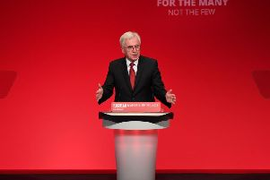 Shadow Chancellor John McDonnell speaking at the Labour Party Conference. Picture: Leon Neal / Getty Images