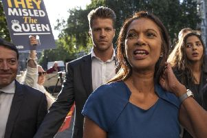 Businesswoman Gina Miller, who challenged Boris Johnson's prorogation of Parliament, outside the Supreme Court. Photo: Dan Kitwood / Getty Images