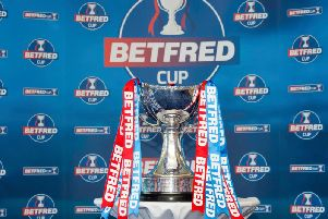 A general view of the Betfred Cup trophy