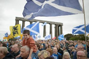 Pro-independence campaigners in Edinburgh. Picture: Jeff J Mitchell/Getty Images