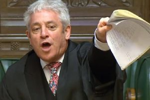 John Bercow in the House of Commons. Picture: PA