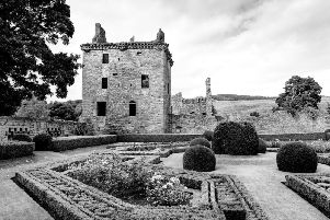 Edzell Castle is reportedly haunted by a ghostly spirit