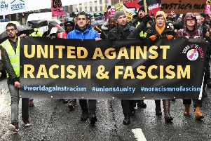 An anti-racism march in Glasgow in March 2019. A study by the University of Edinburgh has found that racism remains persistent in Scotland. Picture: John Devlin