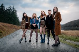 Here come the girls...the first images have been released for Scotland's next big feature film, which will see a group of teenage choirgirls from a strict Catholic school in the Higlands let loose in Edinburgh