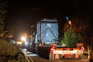 The vehicles were transported during the night to limit disruption. Picture: Liam Anderstrem