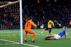 Roger Assale equalises for Young Boys five minutes into the second half.