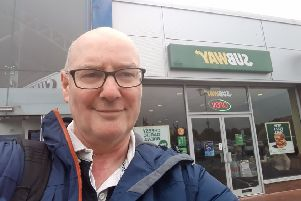 Don Richardson outside the Warrington Subway store
