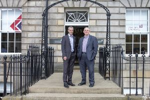 Michael Murray and Robert Winters, leaders of Johnston Carmichael's construction and property incentives team. Picture: Contributed