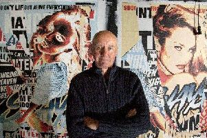 Irvine Welsh before an event at Leith's Biscuit Factory last year.
