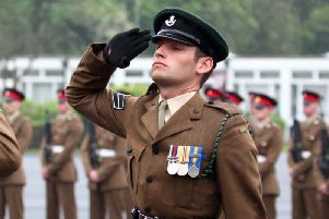 Corporal Joshua Hoole, of Ecclefechan, Dumfries and Galloway, was pronounced dead by an air ambulance doctor after being taken ill at the Dering Lines Infantry Battle School in Brecon, Powys, in July 2016. Picture: SWNS