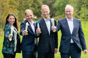 From left: Invizius team Eliza Makou, Andy Herbert, Richard Boyd and Magnus Nicolson. Picture: Contributed