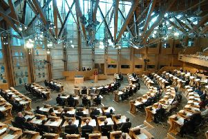 The horseshoe shape of the debating chamber was chosen to help facilitate reasonable debate (Picture: Dan Phillips)