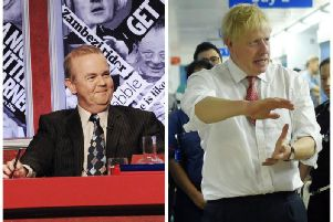 The prime minister has been compared to a 'tub of lard' by Private Eye editor Ian Hislop. Picture: Have I Got News For You/PA
