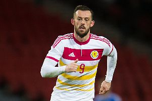 Sheffield Wednesday striker Steven Fletcher in action for Scotland. Picture: John Devlin