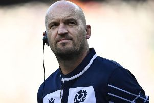 Gregor Townsend looks on at the Shizuoka Stadium ECOPA