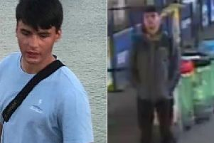 Rufus Brickell. Pictures: CCTV image on right/ Left has been provided by Rufus's family.