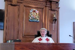 Lord Bonomy presides over mock jury in court as part of research into potential reforms to the legal system