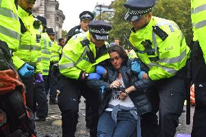 Protesters have faced arrest during the protests. Picture: Victoria Jones/PA Wire