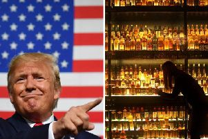 Donald Trump is imposing tariffs on whisky. Pictures: PA