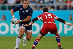 Hooker Fraser Brown was back in his old back-row stomping ground against Russia on Wednesday. Picture: Getty Images
