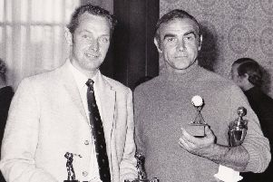 Former Gleneagles pro Ian Marchbank with Sean Connery
