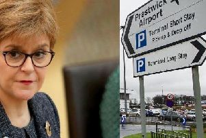 Nicola Sturgeon has been accused of ignoring the growing scandal of the state-owned Glasgow Prestwick Airports financial relationship with the US militar.y