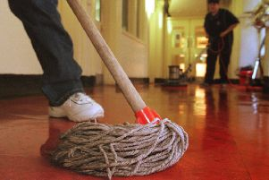One reason behind the gender paid gap is women's concentration in undervalued work like cleaning (Picture: Adam Elder)