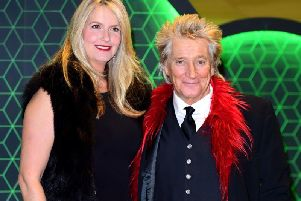 Sir Rod Stewart, with his wife Penny Lancaster, who broke down in tears while discussing her husband's prostate cancer diagnosis. Picture: PA