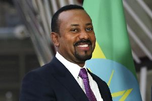 Ethiopian Prime Minister Abiy Ahmed at the European Council headquarters in Brussels. Picture: AP