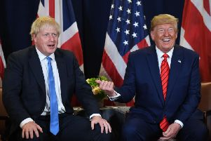 Boris Johnson has asked Donald Trump not to impose a 25 per cent tariff on whisky because of a trade dispute with the EU (Picture: Saul Loeb/AFP/Getty)