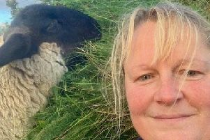 Crofter Melanie MacLean thought of Norman as her dog. Picture: swns