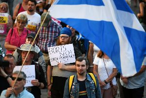 Pro-independence supporters gather in Glasgow in July 2019. Picture: John Devlin