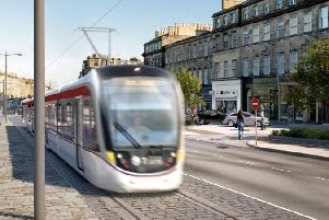 Artist's impression of the tram extension (Photo: City of Edinburgh Council)