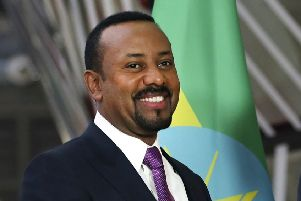 Ethiopian Prime Minister Abiy Ahmed has been awarded the 2019 Nobel Peace Prize (Picture: Francisco Seco/AP, file)