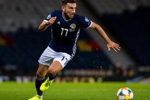 Robert Snodgrass has announced his retirement from international football. Picture: SNS