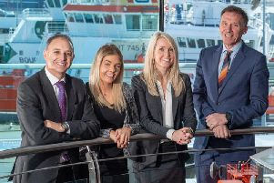 From left: Tom Faichnie and Melanie Clark from Hall Morrice Corporate Finance with Nicole Burstow and James Dow of Dow Schofield Watts. Picture: Michal Wachucik