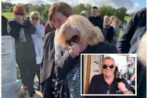 Mourners were soon in stitches once the recording started to play. Picture: Twitter/Facebook